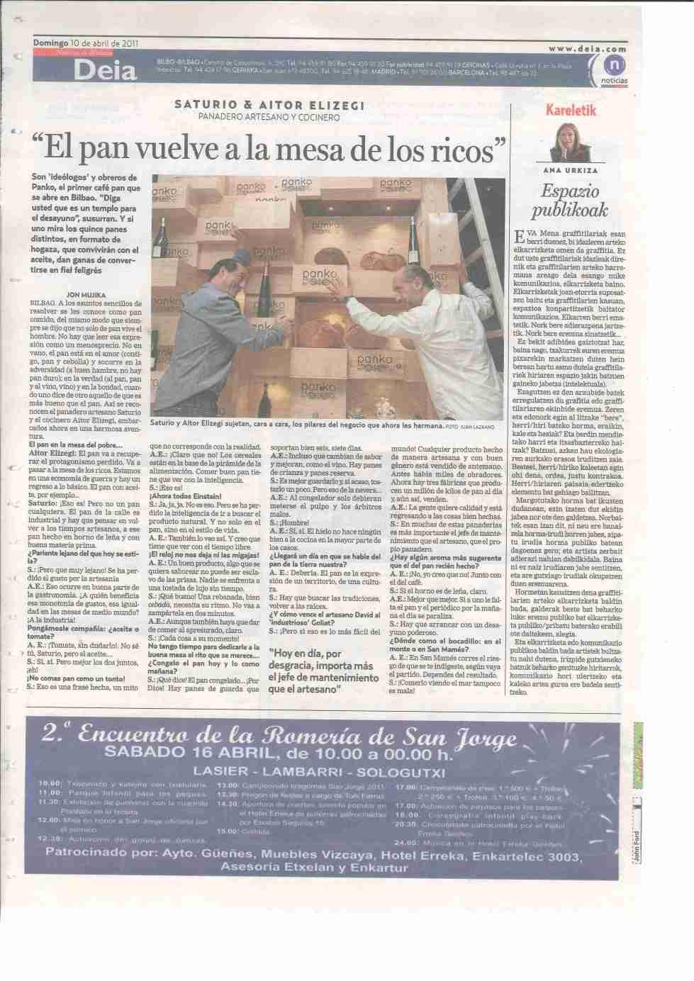 El primer café pan de Bilbao en DEIA